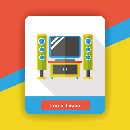 stereo: stereo flat icon