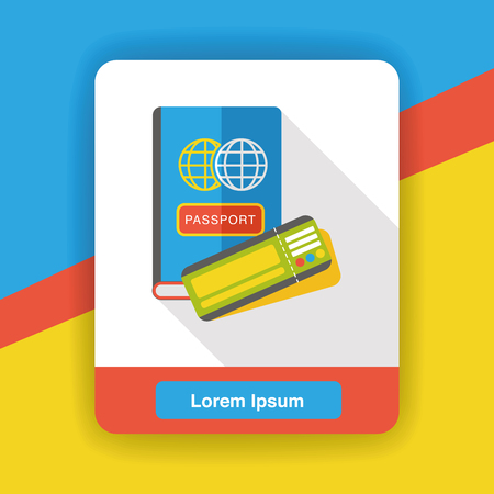 emigration: passport flat icon