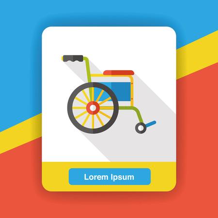 single seat: Wheelchair flat icon Illustration