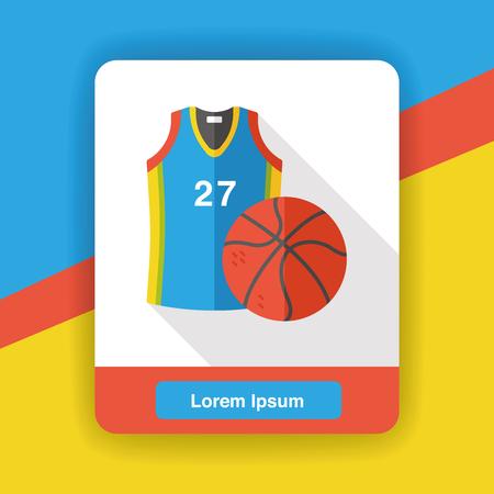 ropa deportiva: Ropa deportiva y el icono plana de baloncesto