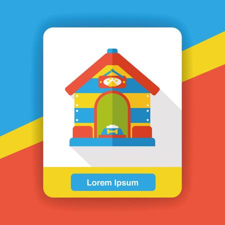 doghouse: dog house flat icon Illustration