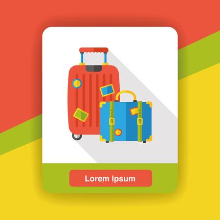 trolley case: luggage case flat icon