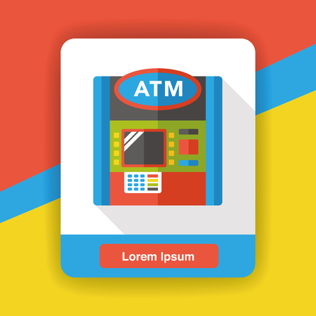 withdraw: Bank ATM flat icon
