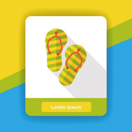 flop: Slippers flip flop flat icon Illustration