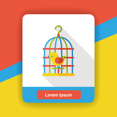 captured: bird cage flat icon
