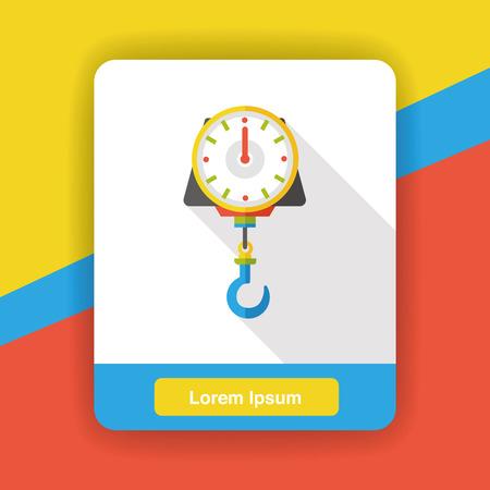 weighing machine: Weighing machine flat icon