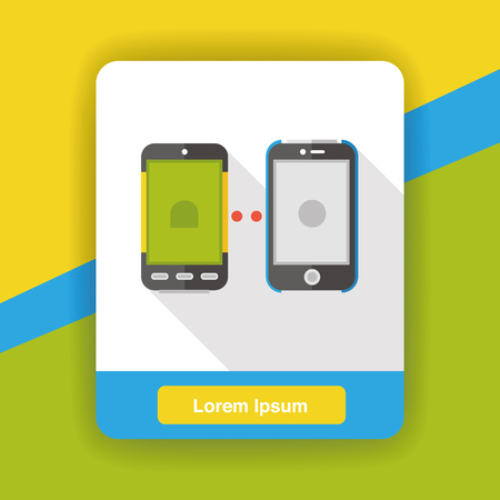 cellphone icon: cellphone connect flat icon Illustration