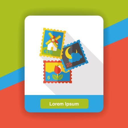 juntar: recoger icono plana sello