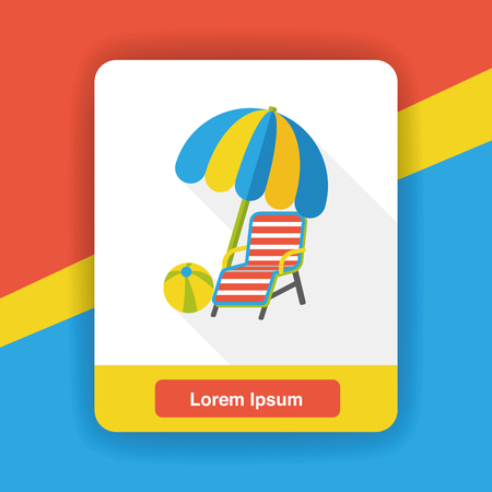 porch chair: lounge chair flat icon Illustration