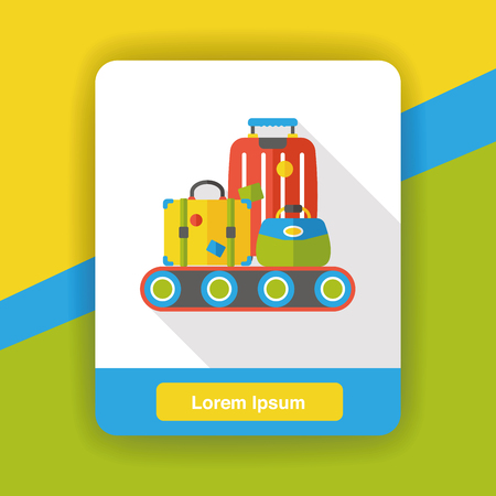 case: luggage case flat icon