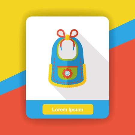 bib: Baby bib flat icon