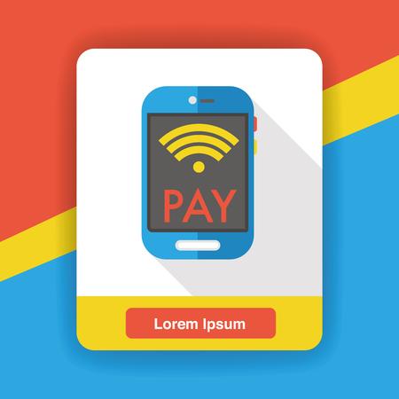 cellphone icon: cellphone wireless flat icon Illustration