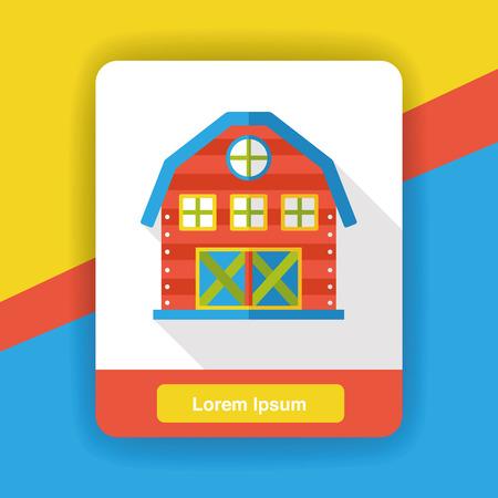 warehousing: warehouse flat icon