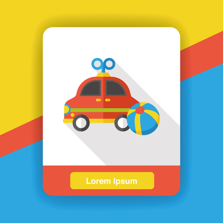 baby toy: baby toy car flat icon