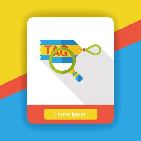 shopping tag: shopping tag flat icon