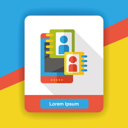 cellphone: social media cellphone flat icon; Contact Illustration