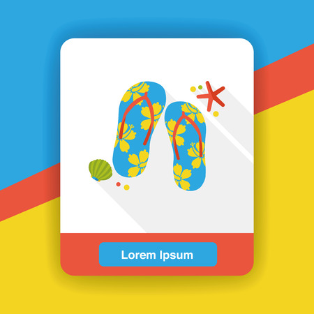 flop: flip flop flat icon