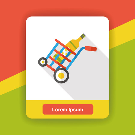 shopping cart icon: shopping cart flat icon Illustration