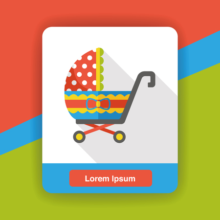 perambulator: Baby carriages flat icon