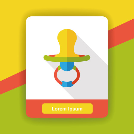 pacifiers: Baby pacifiers flat icon