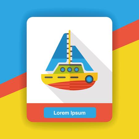 ship icon: Transportation flat ship icon Illustration