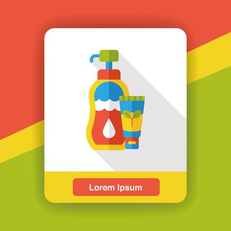moisturizer: shampoo flat icon Illustration