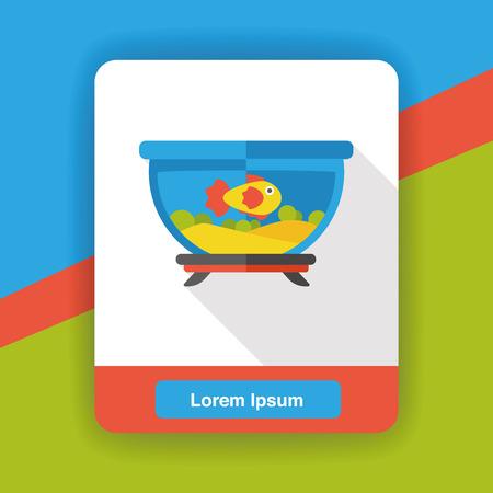 fish bowl: fish bowl flat icon