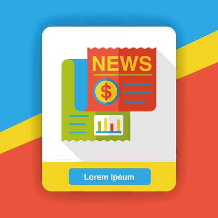 newsprint: business newspaper flat icon