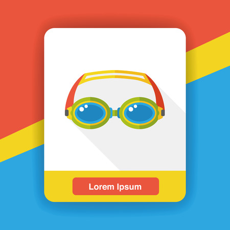 swimming goggles: swimming Goggles flat icon