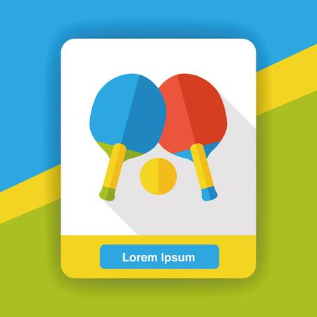 tischtennis: Sport Tischtennis flach Symbol Illustration