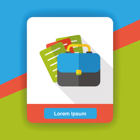 business briefcase: business briefcase flat icon