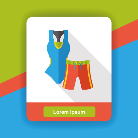 maillot de bain: Swimsuit and pants flat icon