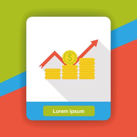 stock: stock money flat icon Illustration