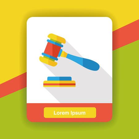 judge gavel: judge gavel flat icon