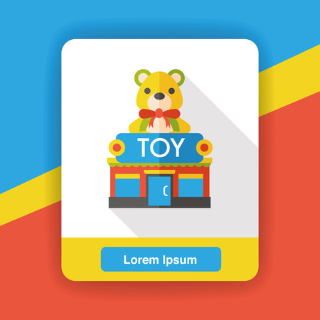 toy shop: toy shop store flat icon