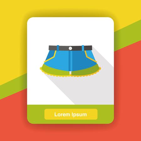 shorts: summer shorts pants flat icon