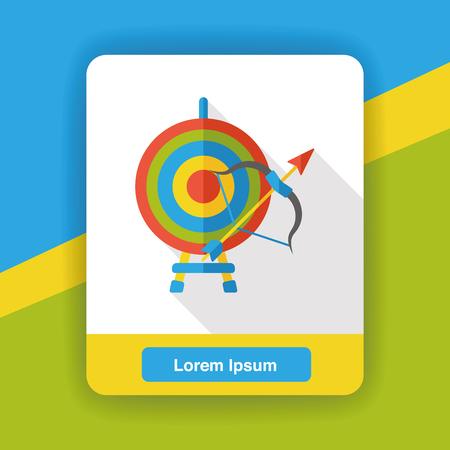 arrow target: sport Archery flat icon