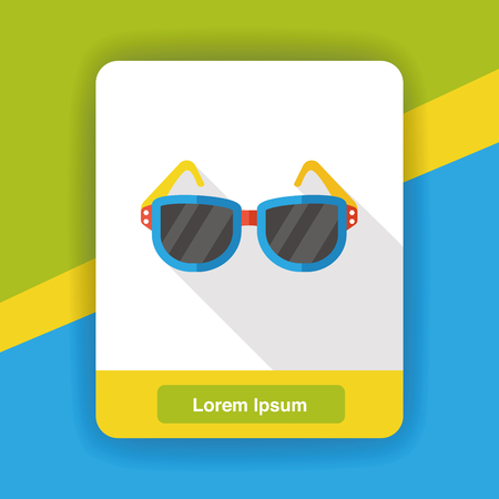 the accessory: accessory sunglasses flat icon Illustration