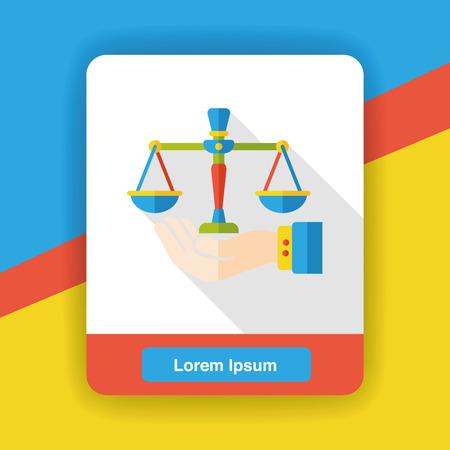notary: Law Balance flat icon