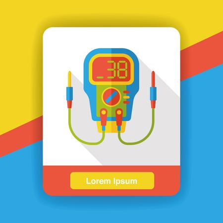 a level: Level meter flat icon Illustration