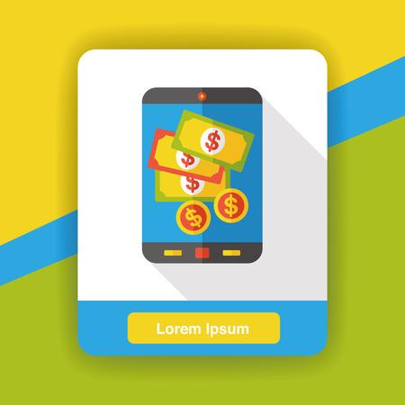 cellphone icon: money cellphone flat icon