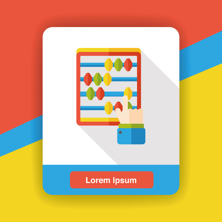 math icon: math abacus calculate flat icon