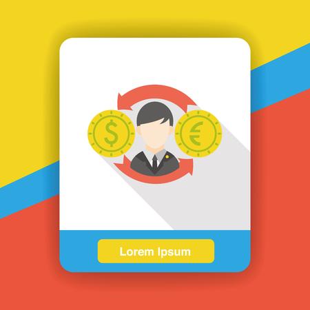 money exchange: money exchange flat icon Illustration
