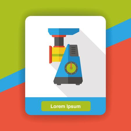 grinder: coffee grinder flat icon Illustration