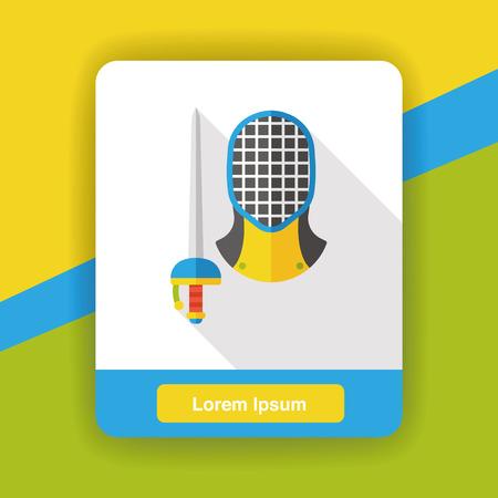 fencing sword: Sport Fencing flat icon