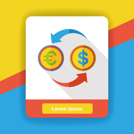 money exchange: money exchange flat icon Illustration