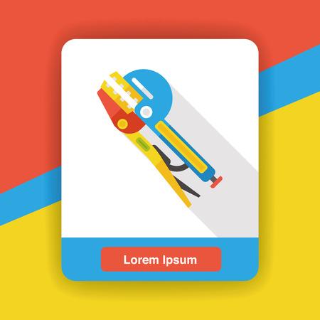 alicates: Alicates herramienta icono plana