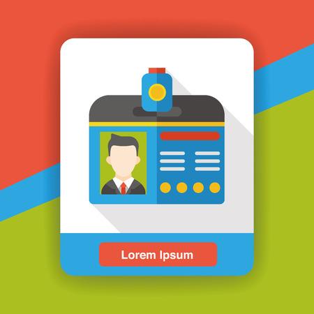 identification: Identification card flat icon