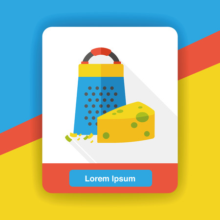 peeler: cheese Peeler flat icon Illustration