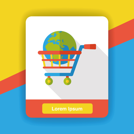 shopping cart icon: internet shopping cart icon Illustration